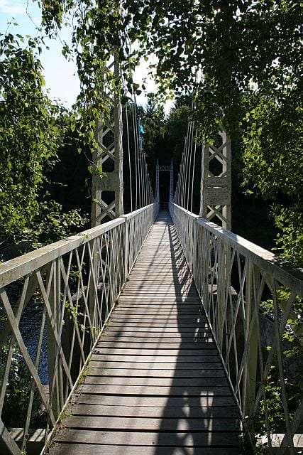Cambus O May suspension bridge: things to do in Ballater