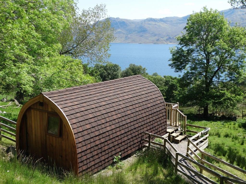 The Wee Lodge on Loch Morar Glamping Pod